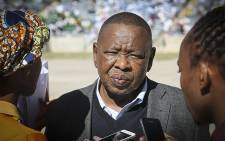 Higher Education Minister Blade Nzimande talks to the media at Youth Day commemorations at the Orlando stadium in Soweto on 16 June 2016. Picture: Reinart Toerien/EWN.