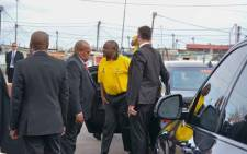 President Cyril Ramaphosa kicked off the ANC's election campaign in the Western Cape on 27 February 2019 with a visit to Khayelitsha. Picture: @MYANC/Twitter