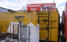 FILE: A spaza shop cum illegal shebeen. Picture: EWN