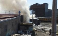It is unclear how the fire started. Picture: Monique Mortlock/EWN.