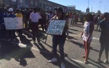 Zandspruit residents protest on 20 April 2016. Picture: Masa Kekana/EWN.