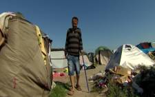 A screengrab from CNN's video report on an Afghan translator who aided the United Kingdom army in Afghanistan seeking refuge in Britain.