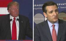 FILE: US Presidential candidate Donald Trump and Ted Cruz. Picture: Supplied/EWN.