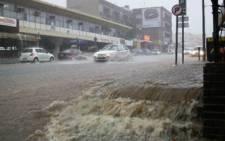 Heavy rain. Picture: EWN