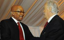 FILE: Advocate George Bizos and President Jacob Zuma. Picture: GCIS.