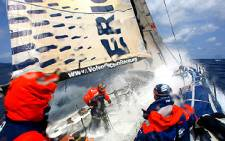 Wet and wild action on deck in the Southern Ocean during the 2010's Volvo Ocean race. Picture: Volvo Ocean Race