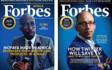DJ Sbu's fabricated Forbes Africa cover. Picture: Twitter.