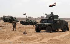 The file photo shows Yemeni military vehicles in the Maifaa region of Shabwa province during a major offensive against Al-Qaeda in the Arabian Peninsula (AQAP). Picture: AFP.