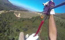 FILE: Stuntman Nicholas Daines reached speeds of over 190km/h on the world's fastest zipline. Picture: Supplied