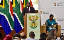 President Cyril Ramaphosa addresses Members of the Diplomatic Corps at OR Tambo Building, Pretoria, on Friday 14 September 2018. Picture: @PresidencyZA/Twitter