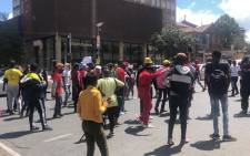 FILE: A small group of protesting students blocked roads with stones and rubble in Braamfontein near Wits University as part of the National Shutdown over student finances on 15 March 2021. Picture: Mia Lindeque/Eyewitness News