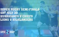 The Super Rugby semi-finals, set for Saturday 30 July, have been confirmed. Picture:  @SuperRugby via Twitter.