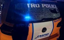 FILE: A damaged JMPD vehicle. Picture: @JoburgMPD/Twitter