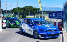 Cars line up at the Sasol's Global Touring Cars on 21 September 2018. Picture: @GTCmotorsport/Twitter.