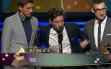 Fun. won the Best New Artist Awards at this years Grammy Awards.