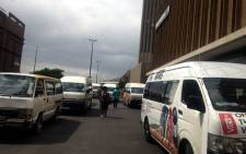 Taxi drivers will hand over a memorandum of grievances, some of which relate to the issuing of operating permits. Picture: Shamiela Fisher/EWN.