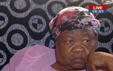 The mother of the late Stompie Seipei, Joyce Seipei. Picture: Screengrab