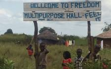 Pigirinya refugee camp along Uganda's border. Picture: Aurelie Kalenga/EWN