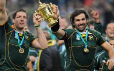 Springbok captain Victor Matfield led the Springboks to a resounding 47-13 win over the World XV yesterday. Picture: Facebook.com