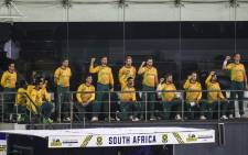 FILE: South Africa's team kneels in support of the Black Lives Matter movement before the start of the third and final international Twenty20 cricket match between Sri Lanka and South Africa at the R. Premadasa Stadium in Colombo on 14 September 2021. Picture: ISHARA S. KODIKARA/AFP