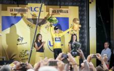 Chris Froome keeps his yellow jersey. Picture: Thomas Holder/EWN.