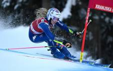 Marta Bassino of Italy competes during the Audi FIS Alpine Skiing World Cup Giant Slalom race in Kranjska Gora, on January 16, 2021. Picture: Jure Makovec/AFP