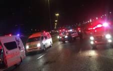 EMER-G-MED paramedics at the scene of the deadly crash in Kempton Park. Picture: @EMER_G_MED/Twitter.