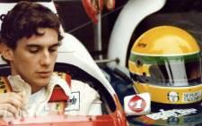 Brazilian racing driver Ayrton Senna with his signature yellow helmet. Picture: Facebook.com
