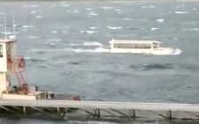 A Reuters video screengrab of the boat at Table Rock Lake in Branson, Missouri.