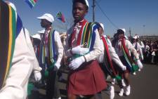 School children marched through the streets of Soweto ahead of 16 June Youth Day celebration to highlight the importance of education. Picture: Vumani Mkhize/EWN.