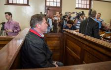 Property Mogul Jason Rohde sits in the dock at his bail hearing in Stellenbosch Magistrates Court. Picture: Anthony Molyneaux/EWN