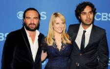 Cast members of The Big Bang Theory Johnny Galecki, Melissa Rauch and Kunal Nayyar attend CBS 2013 Upfront Presentation at The Tent at Lincoln Center on May 15, 2013 in New York City. Ben Gabbe/Getty Images/AFP