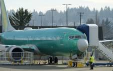 A Boeing 737 MAX airplane test its engines outside of the company's factory on 11 March 2019 in Renton, Washington. Picture: AFP