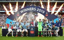 Manchester City players celebrate their win over Watford during the FA Cup final on 18 May 2019. Picture: @ManCity/Twitter
