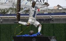 This photo shows the newly unveiled statue of former Los Angeles Galaxy midfielder David Beckham at the Legends Plaza in Carson, California on 2 March 2019. Beckham played for the Los Angeles Galaxy from 2007 until 2012. Picture: AFP