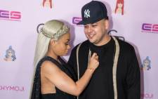 FILE: Rob Kardashian and Blac Chyna. Picture: AFP.