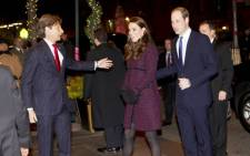Britain's Prince William, Duke of Cambridge, and his wife Catherine, Duchess of Cambridge, arrive in New York, on 7 December, 2014. Picture: AFP.