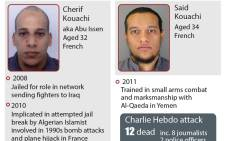 The suspects of the Charlie Hebdo shooting.  Picture: AFP