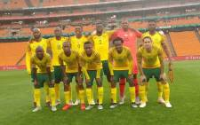 Bafana Bafana pose for a photo ahead of their 2019 African Cup of Nations qualifier against Seychelles at the FNB Stadium on 13 October 2018. Picture: @BafanaBafana/Twitter