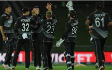 New Zealand beat Bangladesh by 28 runs in a rain-affected second Twenty20 International in Napier on 30 March 2021. Picture: @ICC/Twitter.