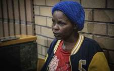 Agnes Moshoeu, mother of slain 16-year-old Mathlomola Moshoeu, appears in the North West High Court in Mahikeng on 29 January 2019 for the sentencing of Philip Schutte and Pieter Doorewaard. Picture: Abigail Javier/EWN
