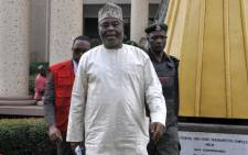 FILE: Nigerian business tycoon Raymond Dokpesi, a prominent member of the People's Democratic Party, arrives at the Federal High Court in Abuja, on 14 December 2015. Picture: AFP