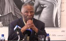 Former South African president Thabo Mbeki highlights that the illegal outflow of money in Africa is far worse than currently stated. Picture : Kgothatso Mogale/EWN