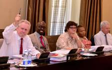 FILE: Rob Davies, Malusi Gigaba, Lynne Brown, Susan Shabangu and Jeremy Cronin at a scheduled Cabinet meeting attended by President Jacob Zuma, Deputy President Cyril Ramaphosa, Ministers and Deputy Ministers on 7 February 2018. Picture: GCIS.
