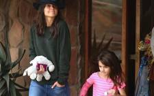 Katie Holmes and daughter Suri at Aquila Private Game Reserve. Source: Official Aquila Private Game Reserve Facebook page