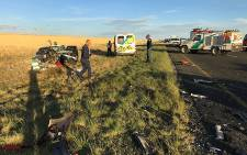 Two people were killed on 30 December following a collision on the N6 near Reddersburg. Picture: @ER24EMS
