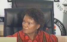 A screengrab of former SAA board member Yakhe Kwinana appearing at the state capture inquiry in Johannesburg on 2 November 2020. Picture: SABC/YouTube
