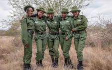 Members of the all-female ranger unit named 'The Lionesses'. Picture: Instagram/ifawglobal