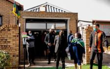 The Economic Freedom Fighters visited the home of Andrew Mlangeni in Soweto on 27 July 2020 after the struggle stalwart's passing. Picture: Kayleen Morgan/EWN.