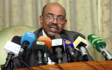 Sudanese President Omar al-Bashir speaks during a press conference on 30 November, 2014. Picture: AFP.